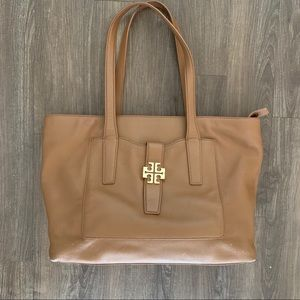Tory Burch Saddle Leather Tote